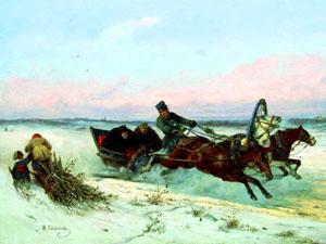 Стихи про зимнюю дорогу