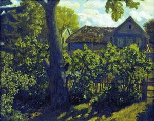 Деревня летом художник н крымов