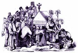 Празднование Масленицы на Руси