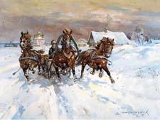 Стихи о зиме В.Е.Серебрякова